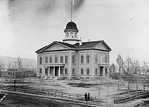 Nevada State Prison - The Nevada State Capitol was built with stone from the prison's quarry.