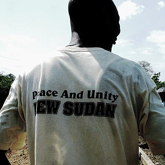 "New Sudan - A Southern Sudanese supporter of Garang's ""New Sudan"" in 2008"