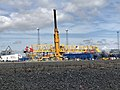 New Belfast Liebherr crane under assembly.jpg