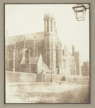 Lincoln's Inn - New Hall of Lincoln's Inn, London, by Henry Fox Talbot, circa 1841/46