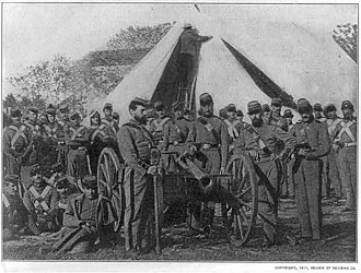New York in the American Civil War - The New York Seventh Militia in Washington, DC, 1861