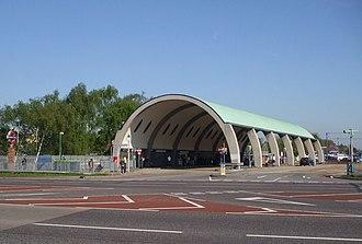 Newbury Park tube station - Grade II listed bus shelter
