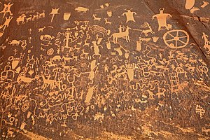 Late Basketmaker II Era - Image: Newspaper Rock closeup