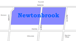 Newtonbrook - Image: Newtonbrook map