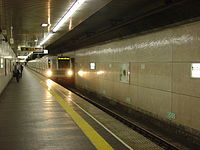 Nezu Station Tokyo Interior Platform One.JPG