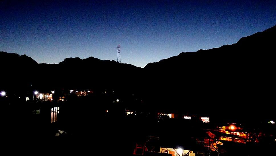 Night view of Gilgit