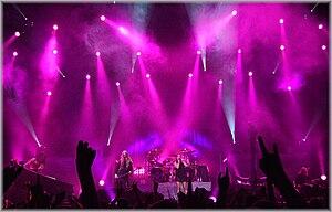 Nightwish em show ao vivo. Helsinque, Finlândia, em 19 de setembro de 2009