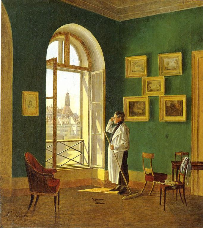 Blick aus dem fenster bilder  Datei:Nikolaus Moreau, Blick aus einem Fenster des Dianabades in ...