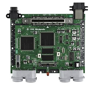 Nintendo 64 - The Nintendo 64 motherboard, showing CPU, RCP, and RDRAM
