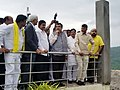 Nitin Gadkari during his visit to Polavaram project site, at Polovaram, West Godavari District of Andhra Pradesh (1).JPG