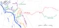 Nizina Wawerska - Kanał Wawerski i in. kanały melioracyjne - mapa.png