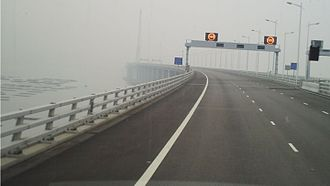 Hong Kong–Shenzhen Western Corridor - Close-up view of the bridge
