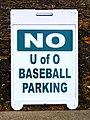 No University of Oregon Baseball Parking Sign (34069929272).jpg