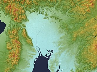 Nōbi Plain - Relief map