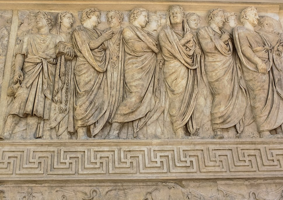 North wall of Ara Pacis, Rome (cropped)