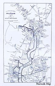 Norwalk 1847 Map, CT, 06854, USA