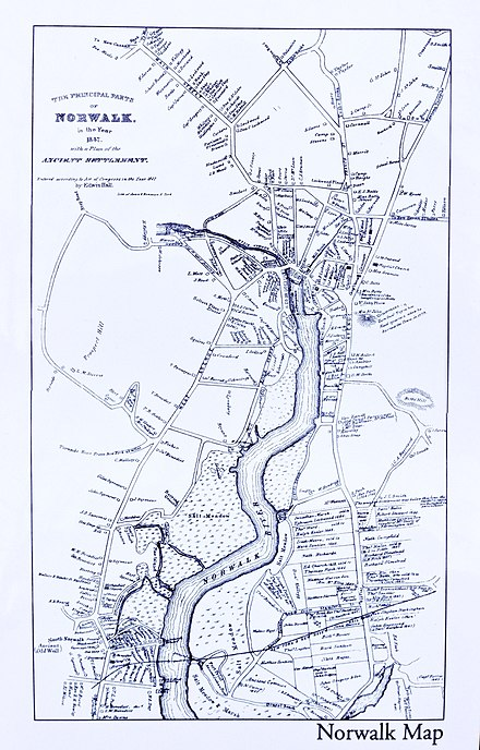 1847 Map of Norwalk Norwalk 1847 Map, CT, 06854, USA.jpg
