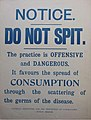 Notice Do not spit - National Association for the Prevention of Tuberculosis Dublin Branch.jpg