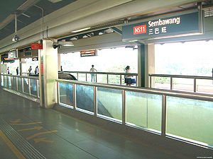 Sembawang MRT Station - An old picture of the station platform level before PDS were installed.