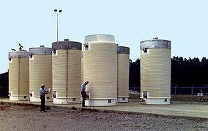 Dry cask storage - Dry cask storage area