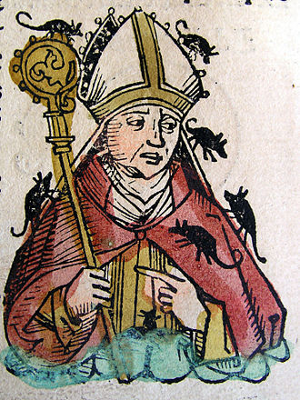 Hatto I - Image: Nuremberg chronicles Hatto, Archbishop of Mainz (CLXXXI Iv)