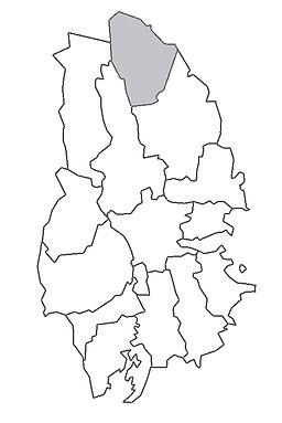 De nye Kopparbergs minebyers beliggenhed i Västmanland.