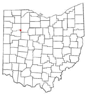 Bluffton, Ohio - Image: OH Map doton Bluffton