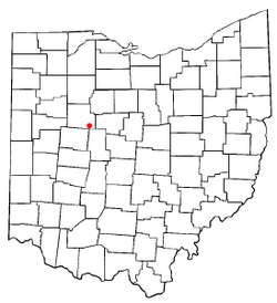 Location of Mount Victory, Ohio
