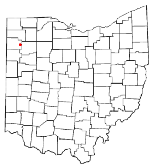Oakwood, Paulding County, Ohio - Image: OH Map doton Oakwood Paulding County