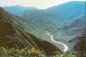 Hells Canyon - Snake River flowing through the canyon