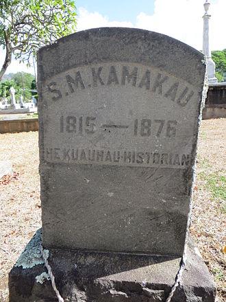 Samuel Kamakau - Grave marker of Samuel Kamakau in Oahu Cemetery