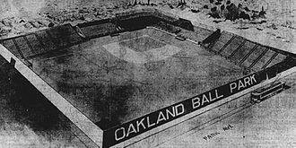 Oaks Park (stadium) - Oakland Baseball Park from The San Francisco Call on February 16, 1913