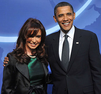 Obama with Cristina Fernandez