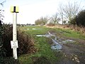 Oil pipeline marker beside Mill Road - geograph.org.uk - 1692615.jpg