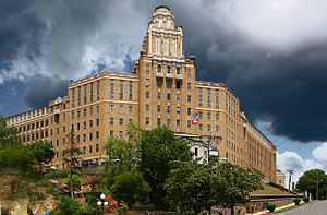 Hot Springs National Park - Old Army-Navy Hospital (now the Rehabilitation Center) in 2012.