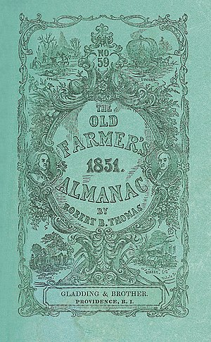 Old Farmer's Almanac - The cover of the 1851 edition.