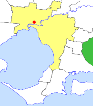 Shire of Pakenham - Location in Melbourne