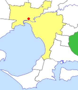 Shire of Pakenham - Location in Melbourne