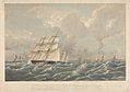 On the 21st July 1831 the Dodman, wind blowing strong with a heavy sea, V.A. Sir Edward Codrington ordered the Barham 50, Stag 46, Curacao 25 Charybdis an old ten gun brig, to run for an hour to leeward in company with RMG PY8641.jpg