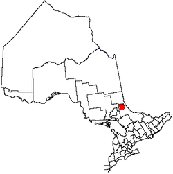 Location of Temagami in Ontario