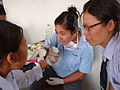 Oral Health Promotion in Nepal, cooperation students.JPG