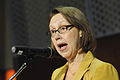 Oregon Attorney General Ellen Rosenblum addresses attendees at the conference (15478927731).jpg