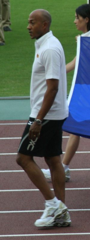 Frankie Fredericks - Fredericks making an appearance at the 2007 World Championships in Athletics