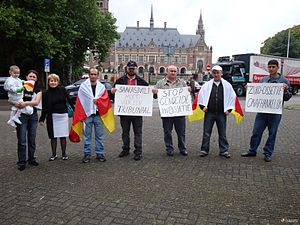 Protests regarding the Russo-Georgian War - Image: Ossetian protest in the Hague 1