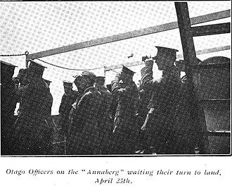 Otago Infantry Regiment (NZEF) - Image: Otago Officers Annaberg ANZAC