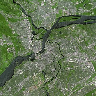 Geography of Ottawa - National Capital Region by SPOT Satellite in 2003