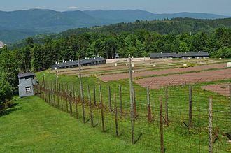 Natzweiler-Struthof - Overview of present-day Struthof Concentration Camp in Natzweiler, France