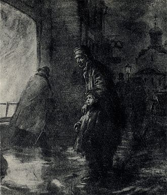 Oysters (short story) - 1903 illustration by Alexander Apsith