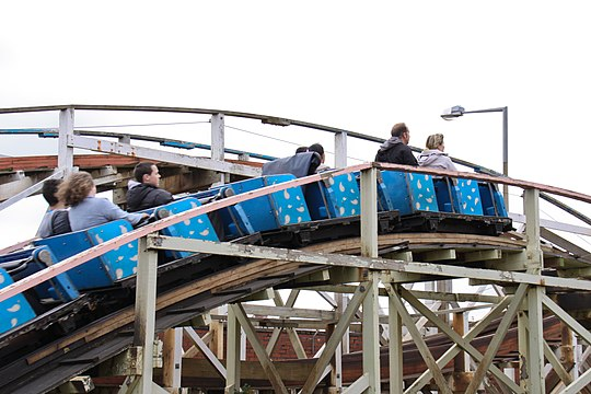 Zipper Dipper à Blackpool Pleasure Beach