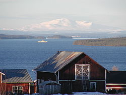 View of Storsjön and Åreskutan from Orrviken